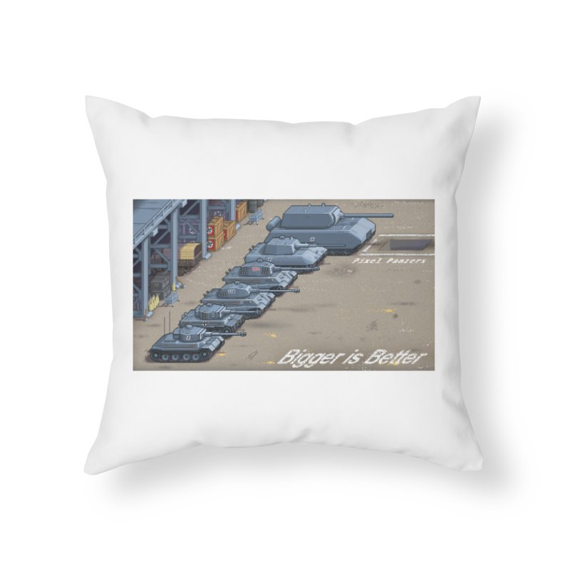WWII Germany - Bigger is Better Home Throw Pillow by Pixel Panzers's Merch Emporium