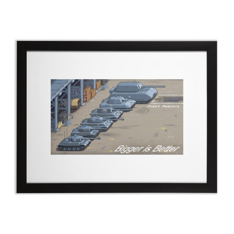 WWII Germany - Bigger is Better Home Framed Fine Art Print by Pixel Panzers's Merch Emporium