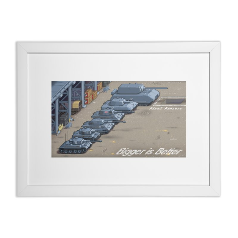 WWII Germany - Bigger is Better in Framed Fine Art Print White by Pixel Panzers's Merch Emporium