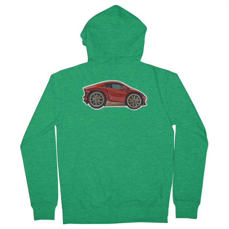 Mini Lamborghini Aventador Miura 50 Women's Zip-Up Hoody by Pixel Panzers's Merch Emporium