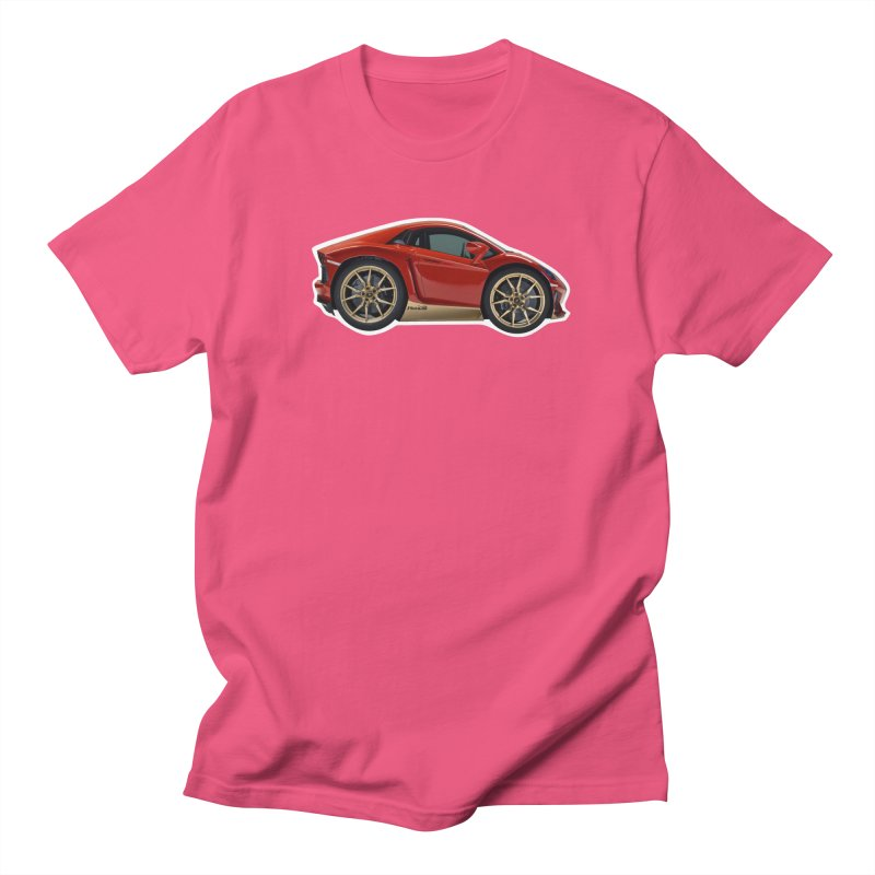 Mini Lamborghini Aventador Miura 50 Men's T-Shirt by Pixel Panzers's Merch Emporium