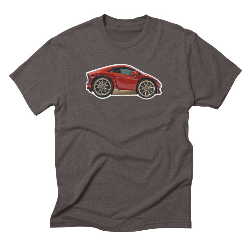 Mini Lamborghini Aventador Miura 50 Men's Triblend T-Shirt by Pixel Panzers's Merch Emporium
