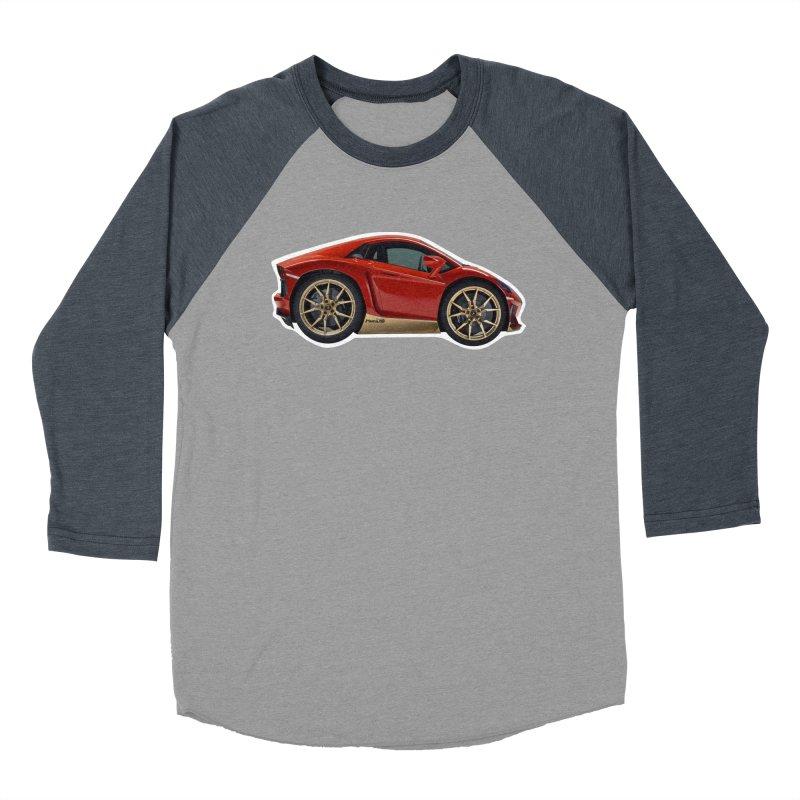 Mini Lamborghini Aventador Miura 50 Men's Baseball Triblend T-Shirt by Pixel Panzers's Merch Emporium