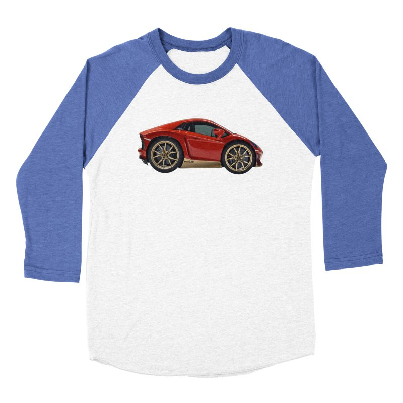 Mini Lamborghini Aventador Miura 50 Men's Baseball Triblend T-Shirt by Pixel Panzers's Merch Emporium
