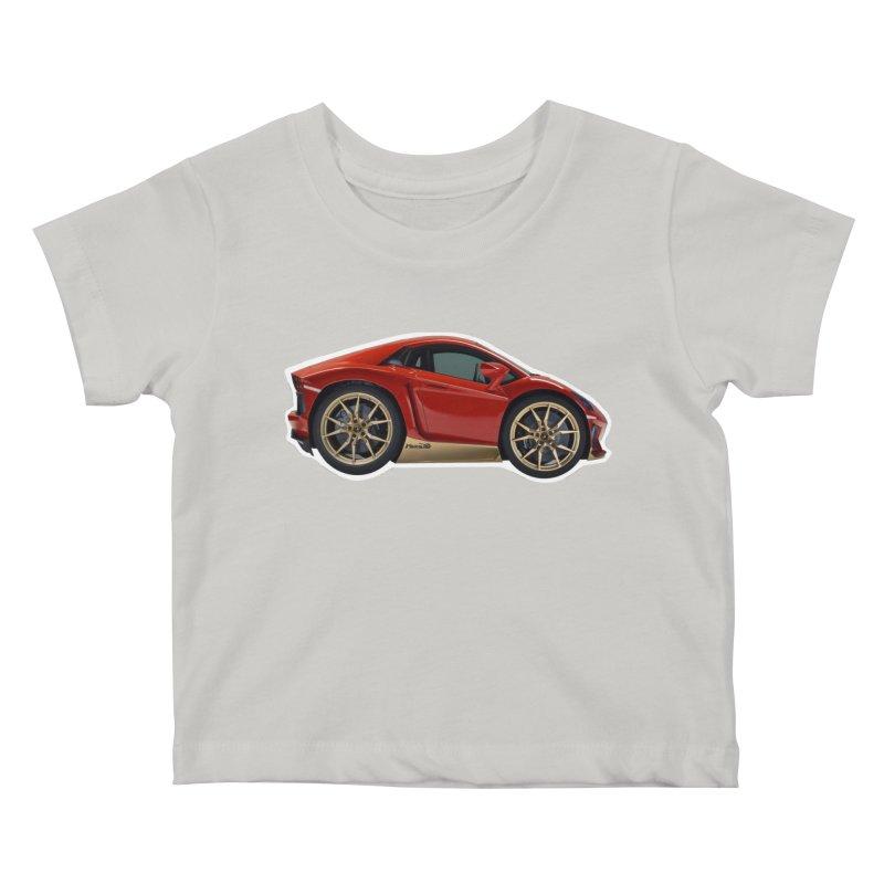 Mini Lamborghini Aventador Miura 50 Kids Baby T-Shirt by Pixel Panzers's Merch Emporium