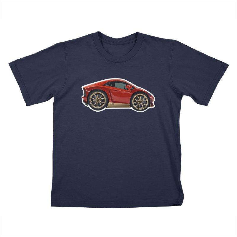 Mini Lamborghini Aventador Miura 50 Kids T-Shirt by Pixel Panzers's Merch Emporium