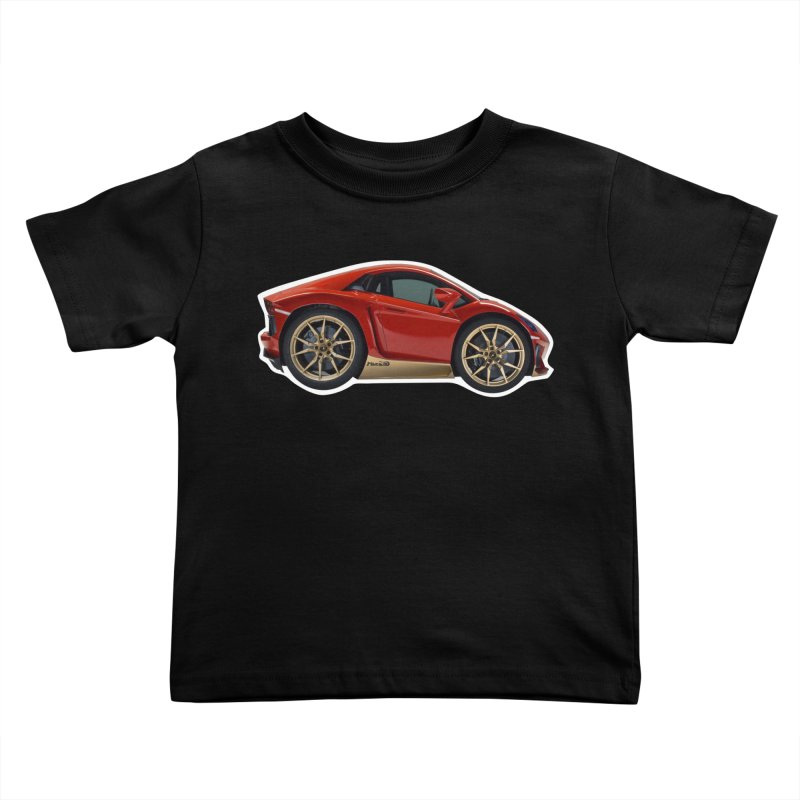 Mini Lamborghini Aventador Miura 50 Kids Toddler T-Shirt by Pixel Panzers's Merch Emporium