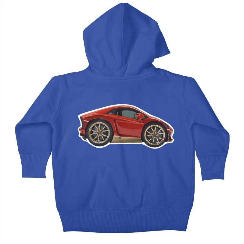 Mini Lamborghini Aventador Miura 50 Kids Baby Zip-Up Hoody by Pixel Panzers's Merch Emporium