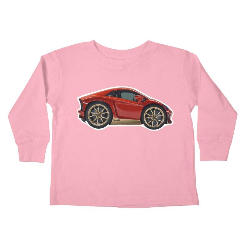 Mini Lamborghini Aventador Miura 50 Kids Toddler Longsleeve T-Shirt by Pixel Panzers's Merch Emporium