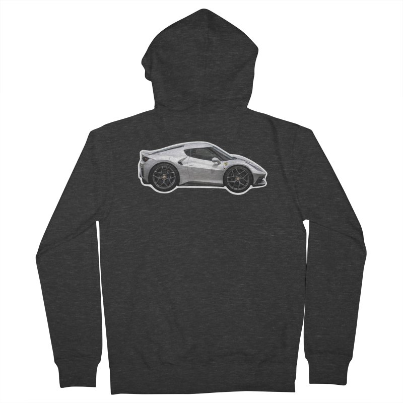 Mini Ferrari 458 MM Speciale Men's Zip-Up Hoody by Pixel Panzers's Merch Emporium