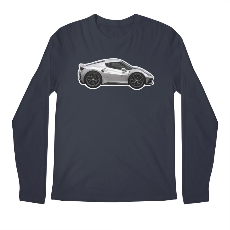 Mini Ferrari 458 MM Speciale Men's Longsleeve T-Shirt by Pixel Panzers's Merch Emporium