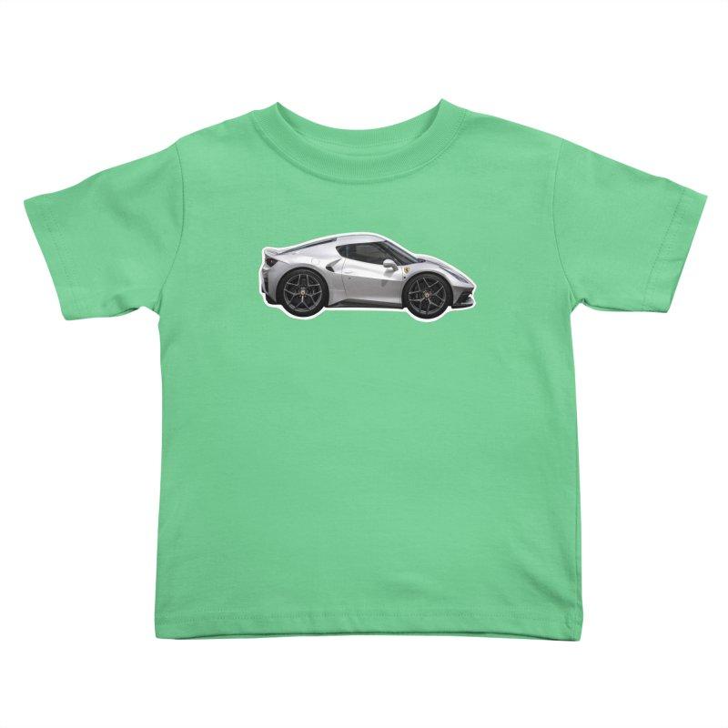 Mini Ferrari 458 MM Speciale Kids Toddler T-Shirt by Pixel Panzers's Merch Emporium