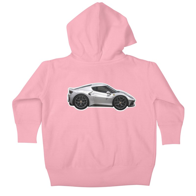 Mini Ferrari 458 MM Speciale Kids Baby Zip-Up Hoody by Pixel Panzers's Merch Emporium