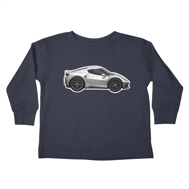 Mini Ferrari 458 MM Speciale Kids Toddler Longsleeve T-Shirt by Pixel Panzers's Merch Emporium