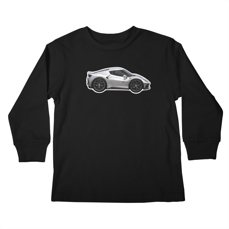 Mini Ferrari 458 MM Speciale Kids Longsleeve T-Shirt by Pixel Panzers's Merch Emporium