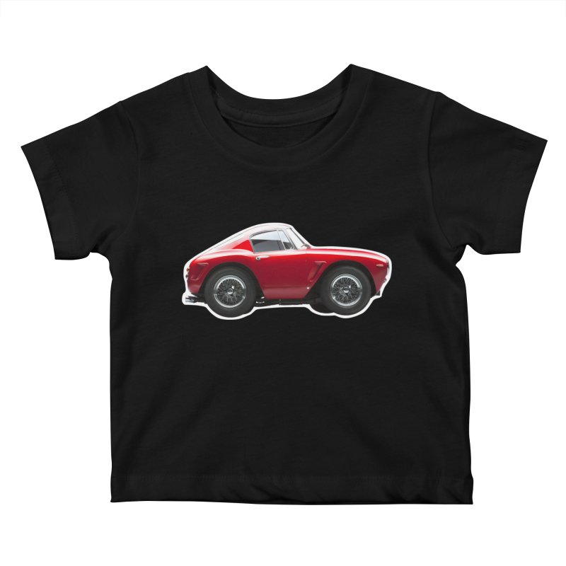 Mini Ferrari 250 GT SWB 10 Kids Baby T-Shirt by Pixel Panzers's Merch Emporium