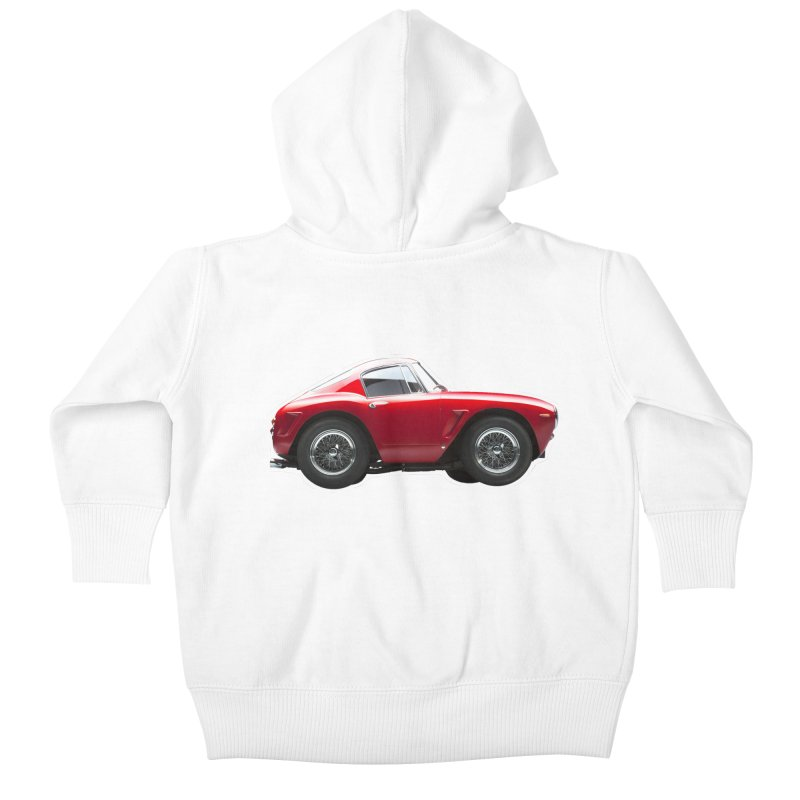 Mini Ferrari 250 GT SWB 10 Kids Baby Zip-Up Hoody by Pixel Panzers's Merch Emporium