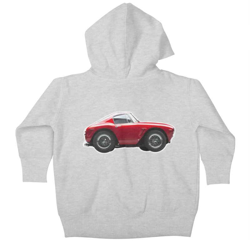 Mini Ferrari 250 GT SWB 10 Kids Baby Zip-Up Hoody by Pixel Panzers's Merch Emporium