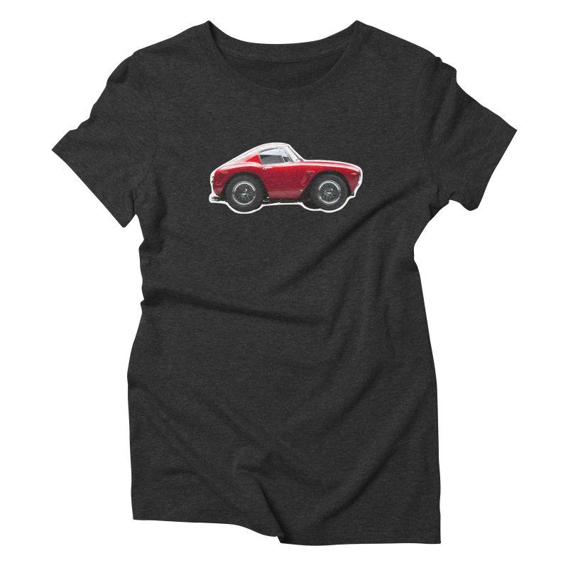 Mini Ferrari 250 GT SWB 10 Women's Triblend T-Shirt by Pixel Panzers's Merch Emporium