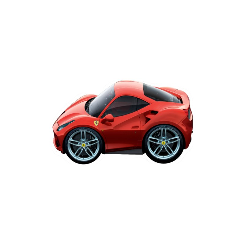 Mini Ferrari 488 GTB by Pixel Panzers's Merch Emporium