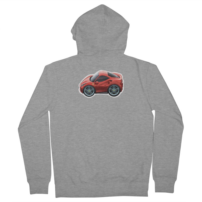Mini Ferrari 488 GTB Women's Zip-Up Hoody by Pixel Panzers's Merch Emporium