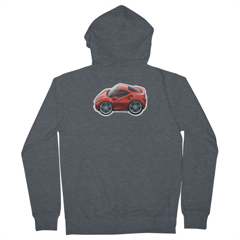 Mini Ferrari 488 GTB Men's Zip-Up Hoody by Pixel Panzers's Merch Emporium