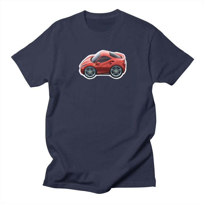 Mini Ferrari 488 GTB Men's T-Shirt by Pixel Panzers's Merch Emporium