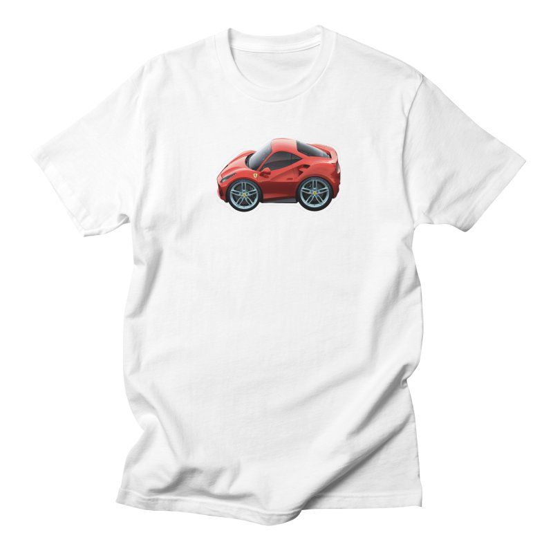 Mini Ferrari 488 GTB Men's T-Shirt by Pixel Panzers's Merch Emporium