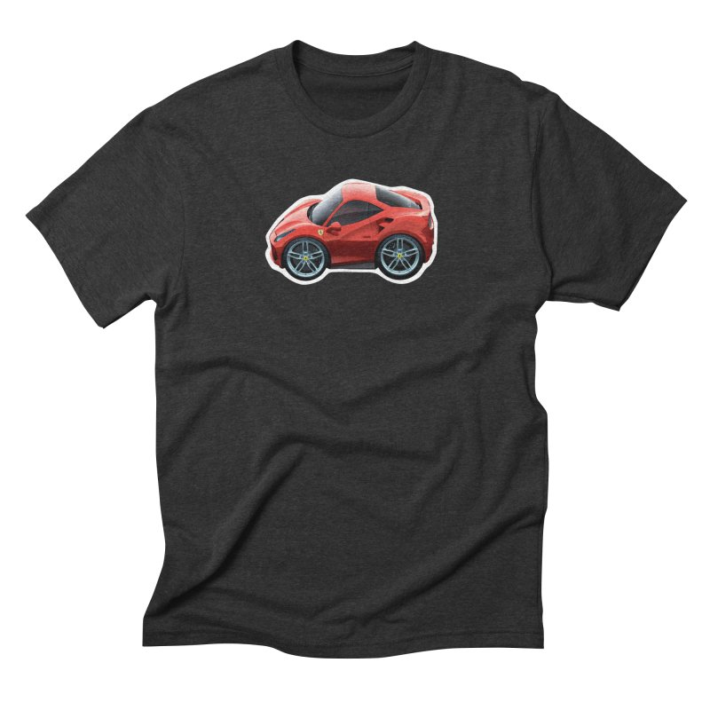 Mini Ferrari 488 GTB Men's Triblend T-Shirt by Pixel Panzers's Merch Emporium