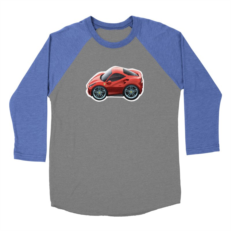 Mini Ferrari 488 GTB Men's Baseball Triblend T-Shirt by Pixel Panzers's Merch Emporium
