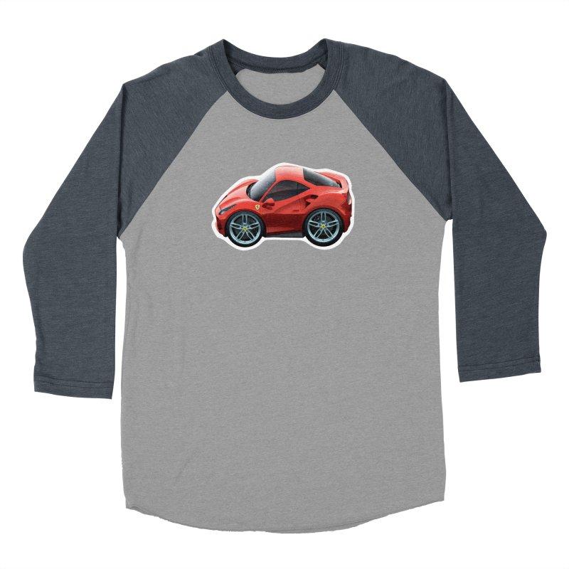 Mini Ferrari 488 GTB Men's Baseball Triblend T-Shirt by Pixel Panzers's Merch Emporium
