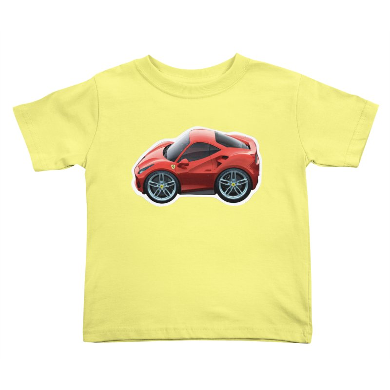Mini Ferrari 488 GTB Kids Toddler T-Shirt by Pixel Panzers's Merch Emporium