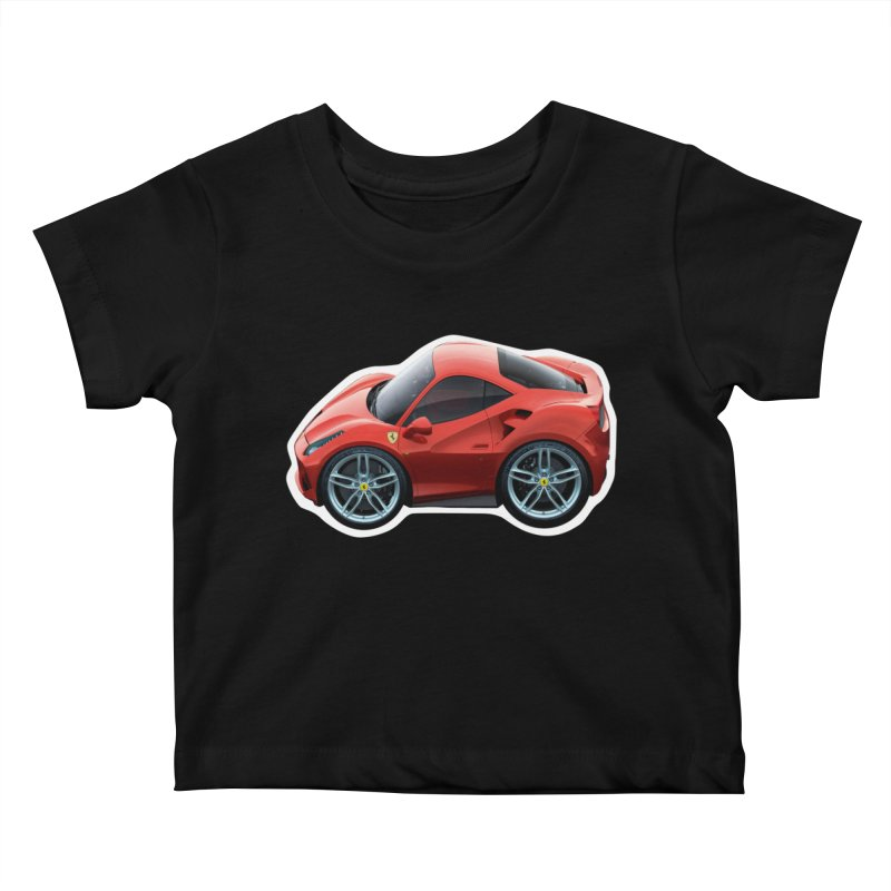 Mini Ferrari 488 GTB Kids Baby T-Shirt by Pixel Panzers's Merch Emporium