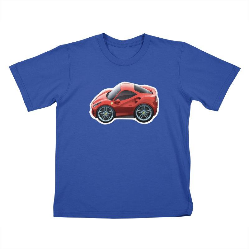 Mini Ferrari 488 GTB Kids T-Shirt by Pixel Panzers's Merch Emporium
