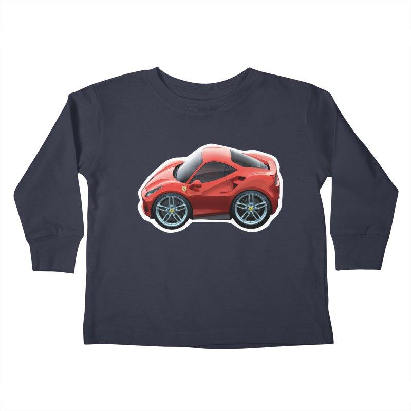 Mini Ferrari 488 GTB Kids Toddler Longsleeve T-Shirt by Pixel Panzers's Merch Emporium