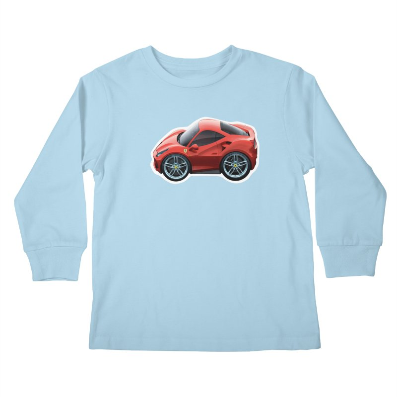 Mini Ferrari 488 GTB Kids Longsleeve T-Shirt by Pixel Panzers's Merch Emporium