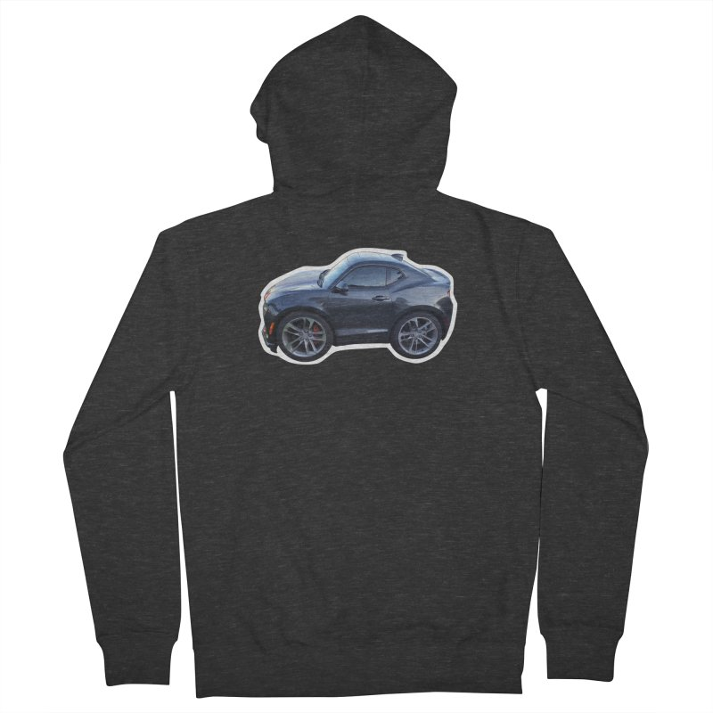 Mini Chevy Camaro SS Women's Zip-Up Hoody by Pixel Panzers's Merch Emporium