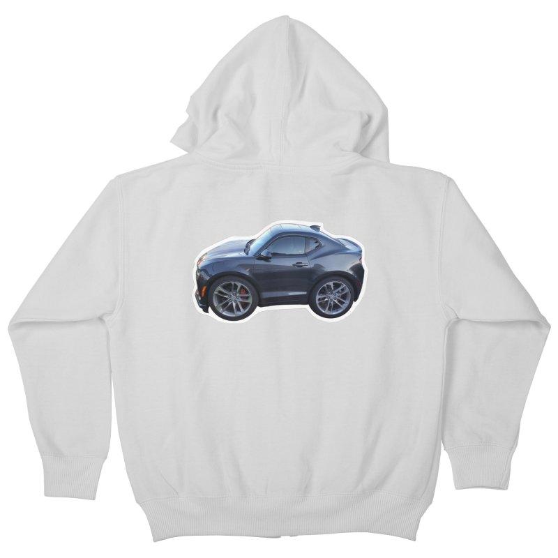 Mini Chevy Camaro SS Kids Zip-Up Hoody by Pixel Panzers's Merch Emporium