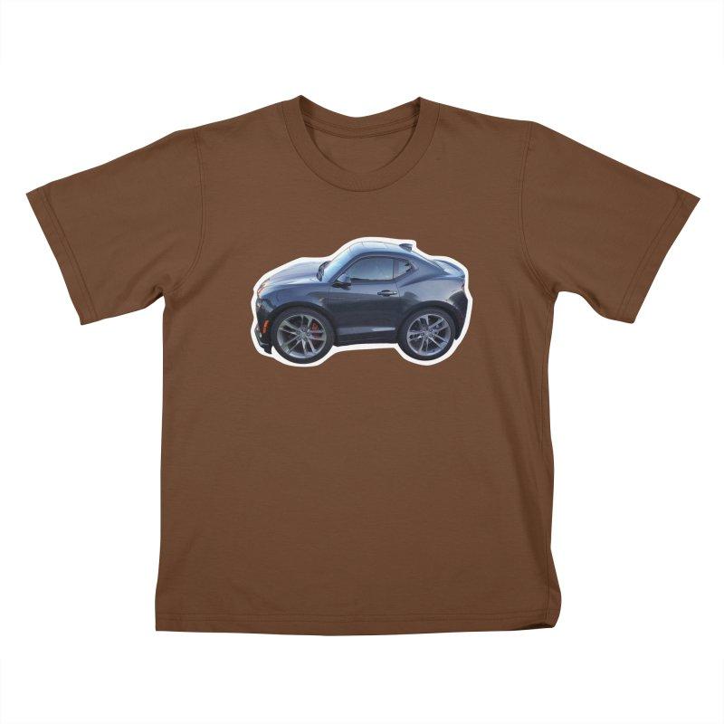 Mini Chevy Camaro SS Kids T-Shirt by Pixel Panzers's Merch Emporium