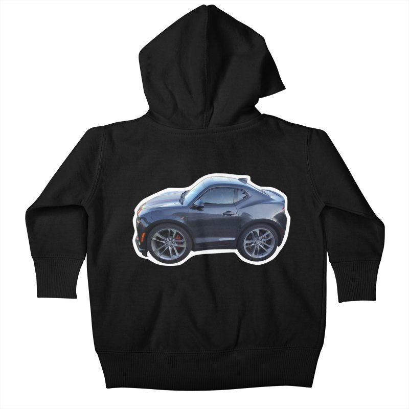 Mini Chevy Camaro SS Kids Baby Zip-Up Hoody by Pixel Panzers's Merch Emporium