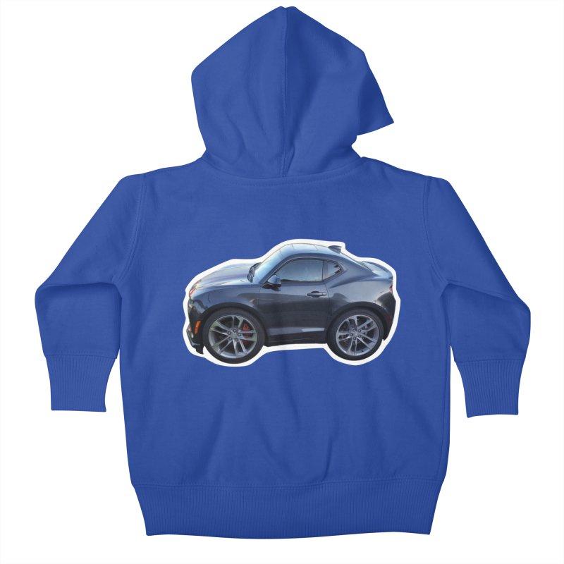 Mini Chevy Camaro SS Kids Baby Zip-Up Hoody by Pixel Panzers's Merch Emporium