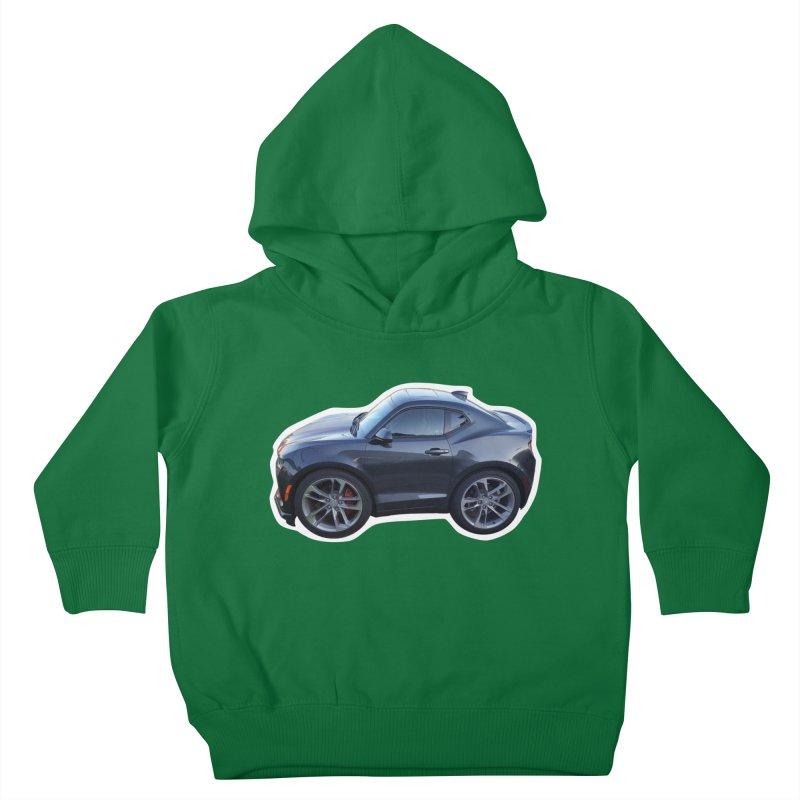 Mini Chevy Camaro SS Kids Toddler Pullover Hoody by Pixel Panzers's Merch Emporium