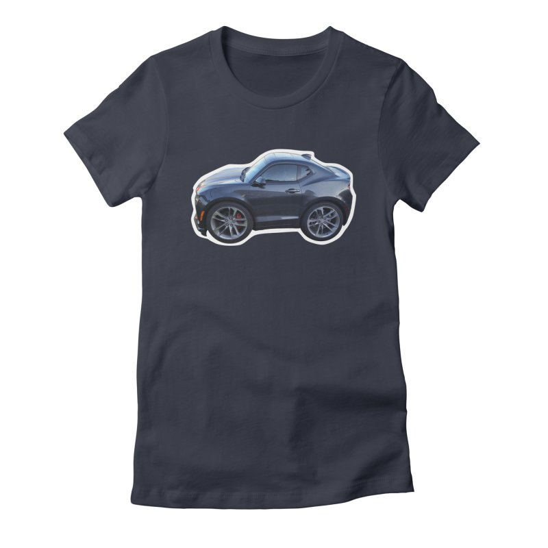 Mini Chevy Camaro SS Women's Fitted T-Shirt by Pixel Panzers's Merch Emporium