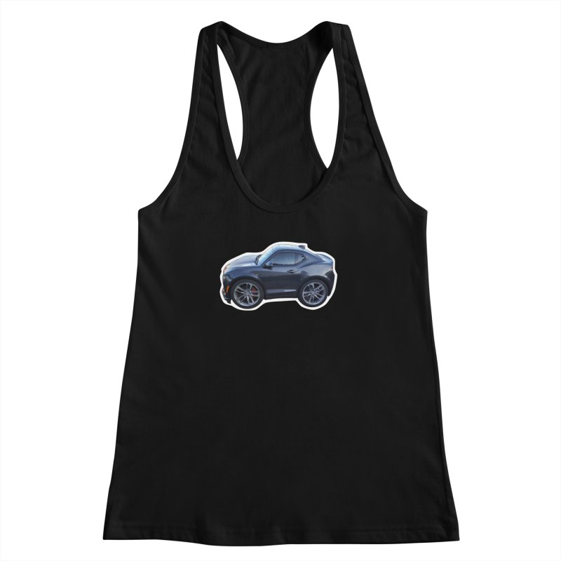 Mini Chevy Camaro SS Women's Racerback Tank by Pixel Panzers's Merch Emporium