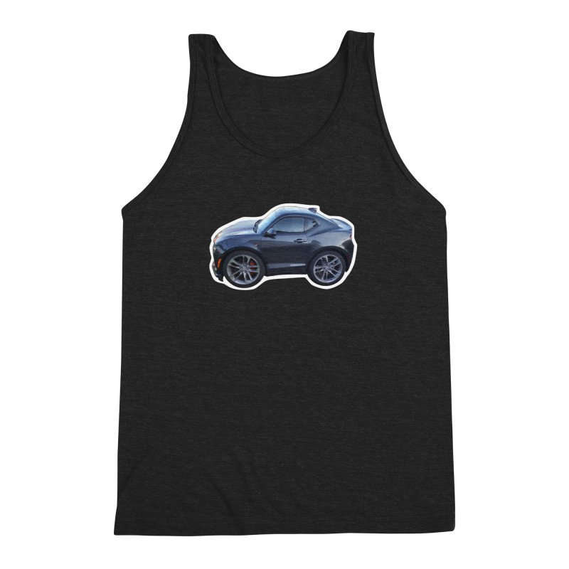 Mini Chevy Camaro SS Men's Triblend Tank by Pixel Panzers's Merch Emporium