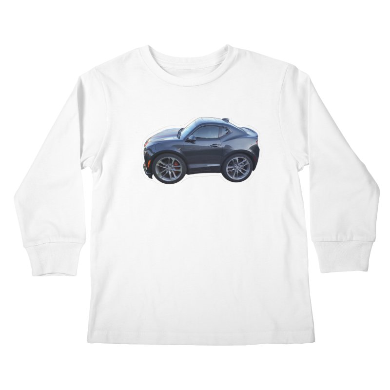 Mini Chevy Camaro SS Kids Longsleeve T-Shirt by Pixel Panzers's Merch Emporium