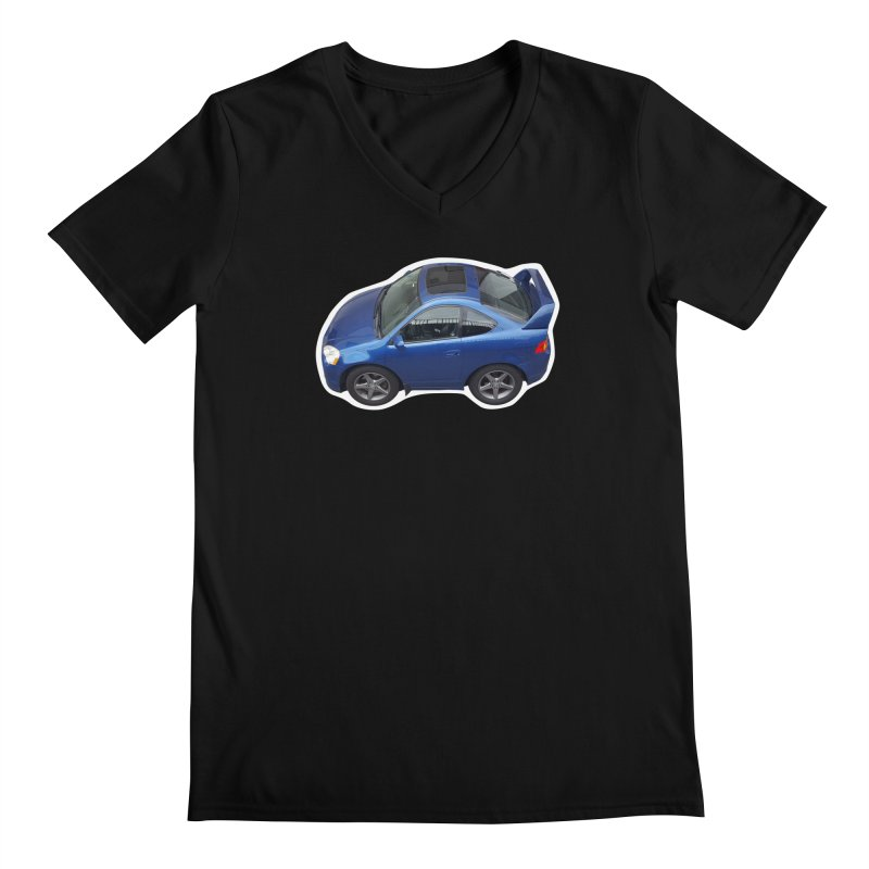 Mini Honda Integra   RSX Type S Men's V-Neck by Pixel Panzers's Merch Emporium