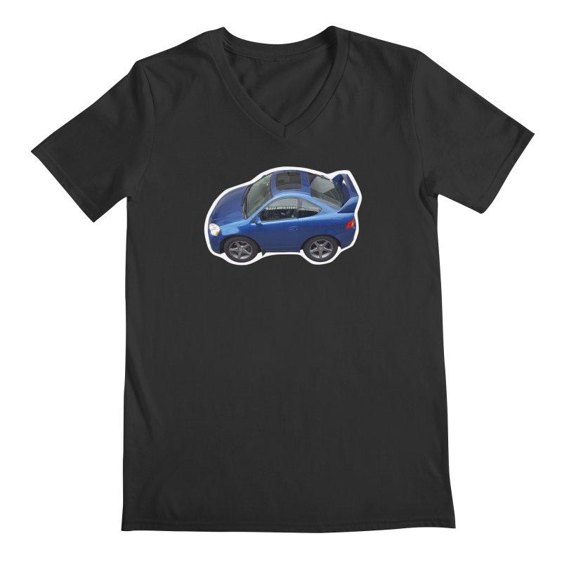 Mini Honda Integra   RSX Type S in Men's V-Neck Smoke by Pixel Panzers's Merch Emporium