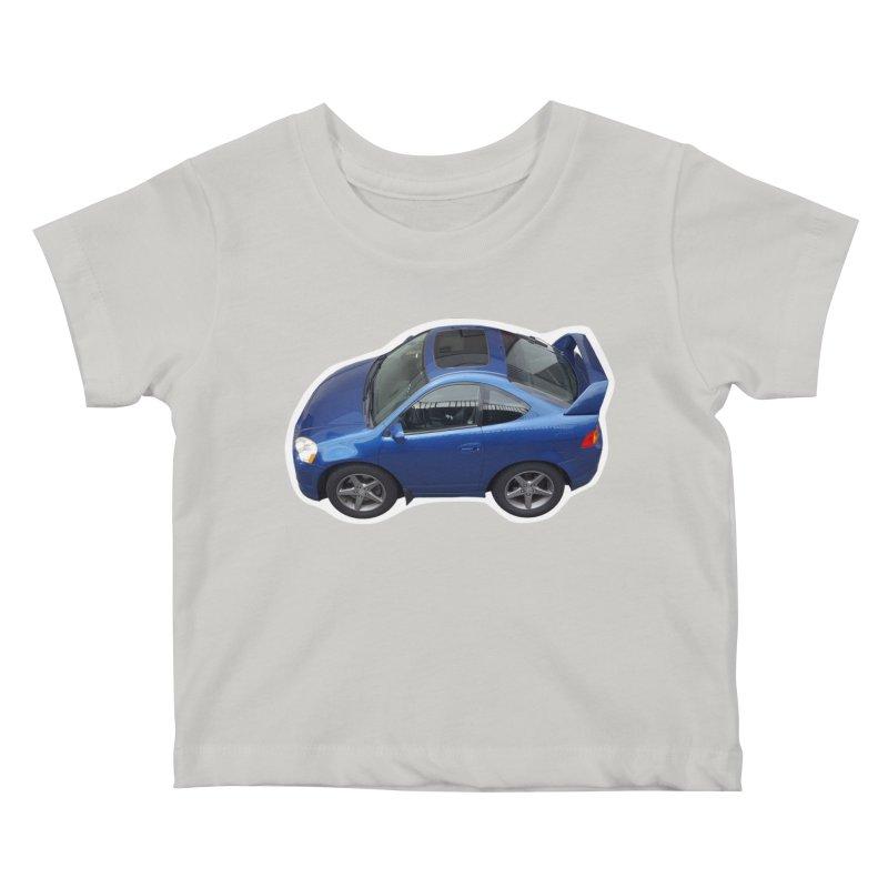 Mini Honda Integra   RSX Type S Kids Baby T-Shirt by Pixel Panzers's Merch Emporium