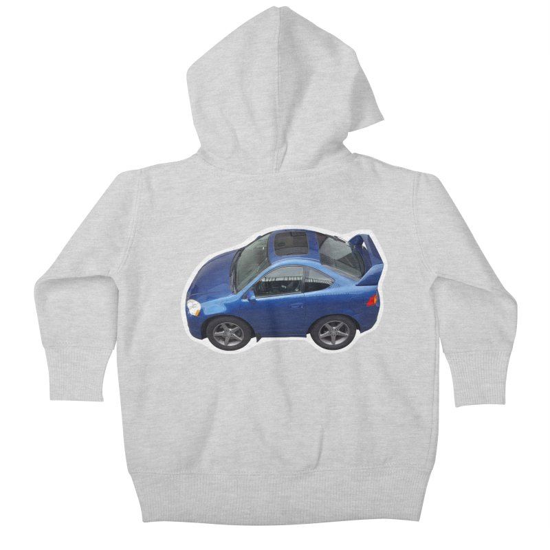 Mini Honda Integra | RSX Type S Kids Baby Zip-Up Hoody by Pixel Panzers's Merch Emporium